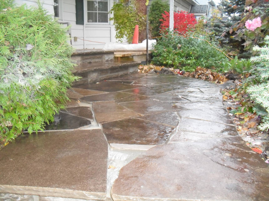 Natural flagstone walkway steps ottawa stone mason Natural stone walkways