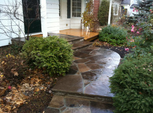 Flagstone Walkway in Cement