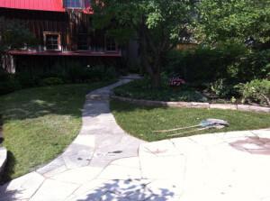 New flagstone walkway