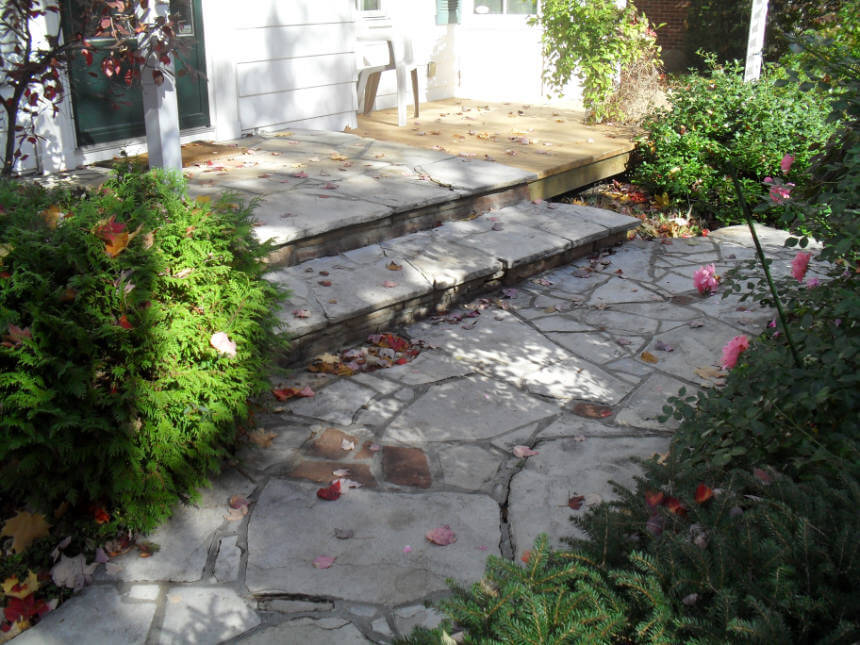 Natural Flagstone Walkway Steps Ottawa Stone Mason