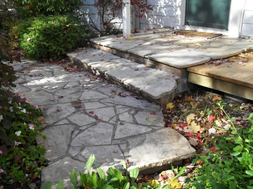 Natural Flagstone Walkway Steps Ottawa Stone Mason