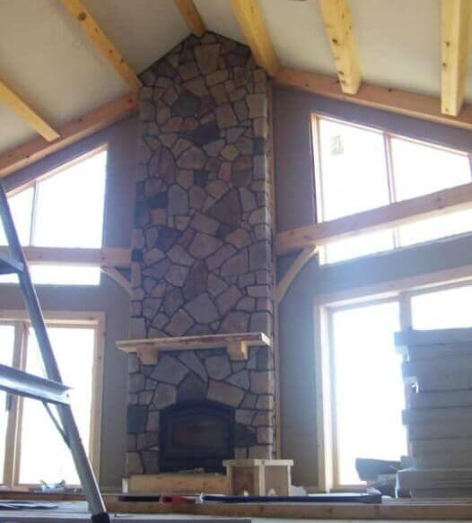 Cultured Stone Fireplace 2