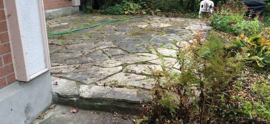 Flagstone Patio - Before Dry Laid