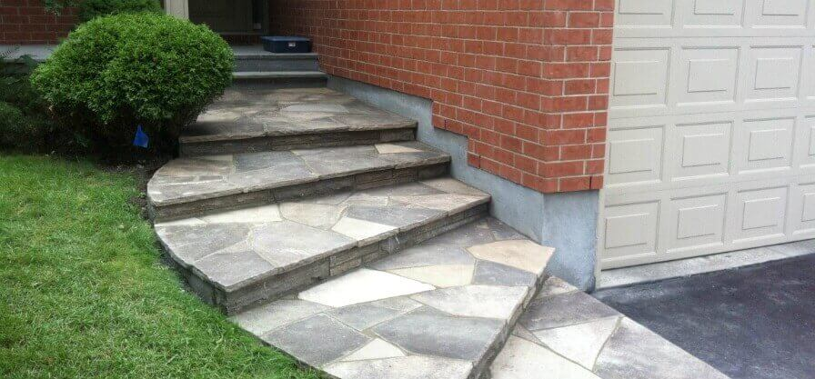 flagstone steps after