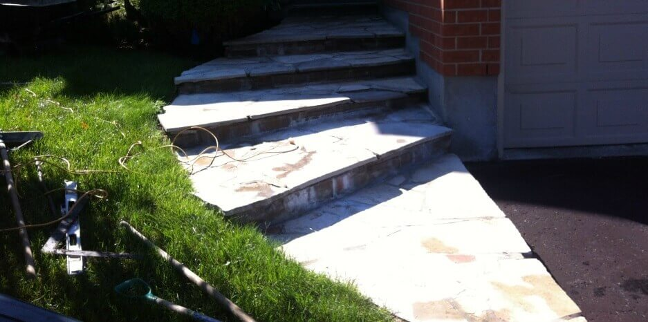 flagstone steps before