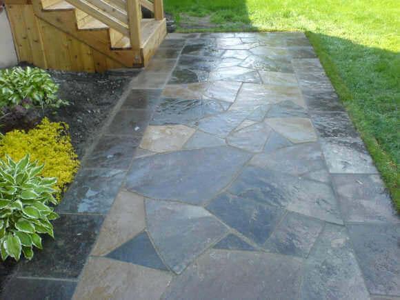 flagstone walkway dry laid