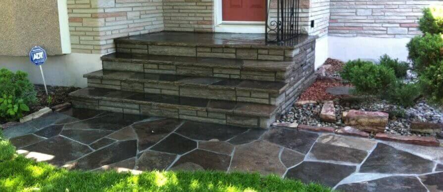 flagstone steps & walkway
