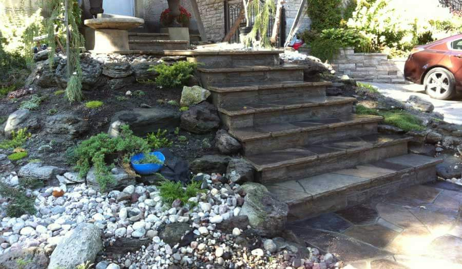 Walkway stepping stones installation software