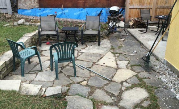 Old Stone Patio - Before 5