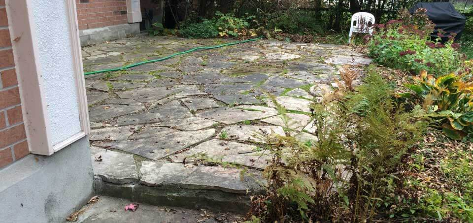The Old Dry Laid Flagstone Patio