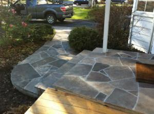 Flagstone Walkway Cement