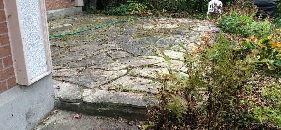 Flagstone Patio - Before Dry Laid