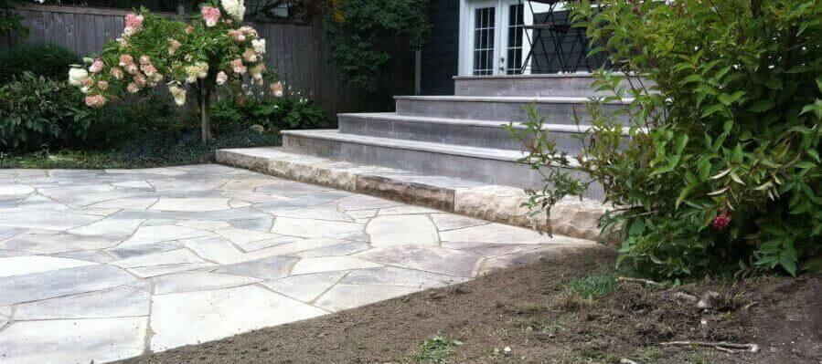Dry laid patio - Steps