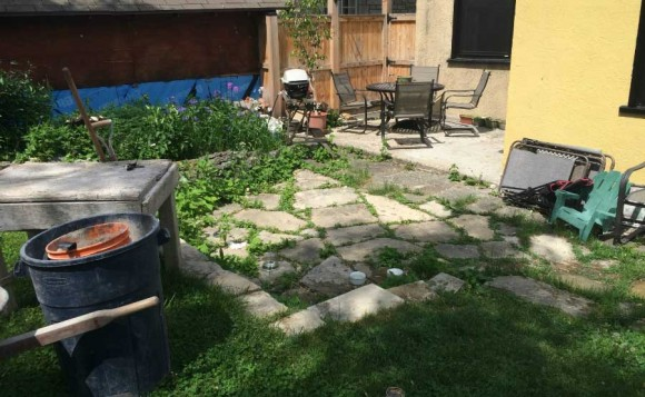 Old Stone Patio - Before 6