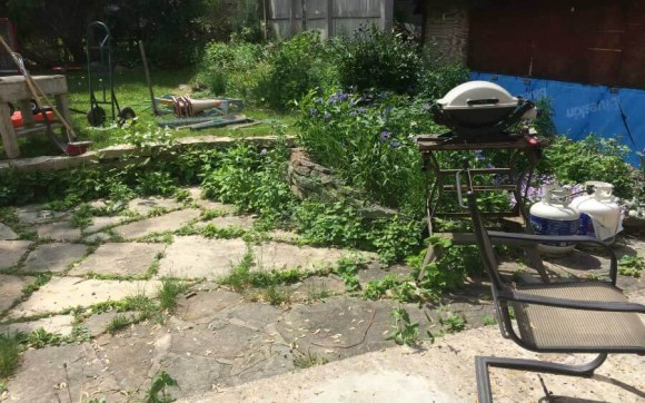 Old Stone Patio - Before 2